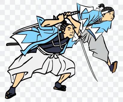 幕末人Hitomo 6 Shinsengumi 2人團隊