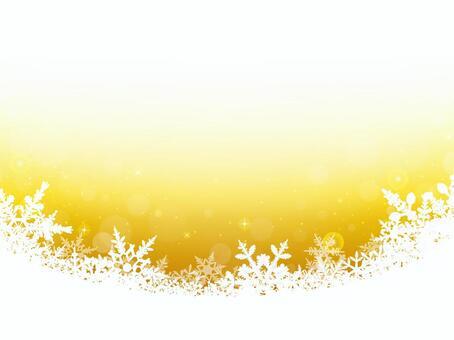冬天背景·雪水晶·黃色