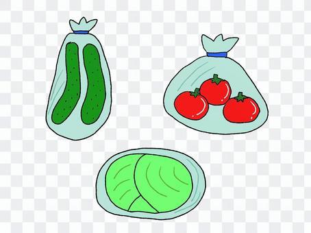 袋入り野菜