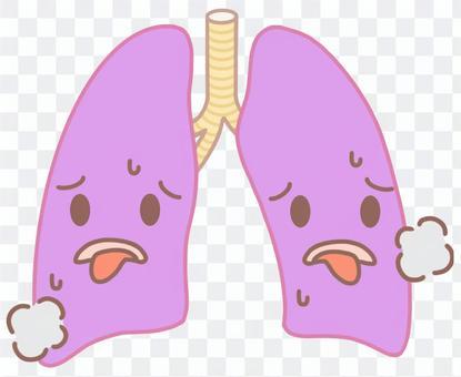 呼吸困難的肺