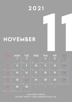 2021 年 11 月日曆第 2 卷
