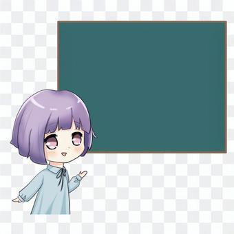 黑板上的女孩
