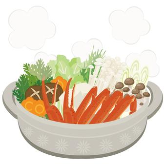Japanese food ★ Hot pot dish Crab hot pot