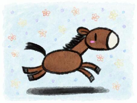 馬(奔跑)
