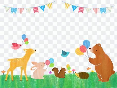 氣球和動物