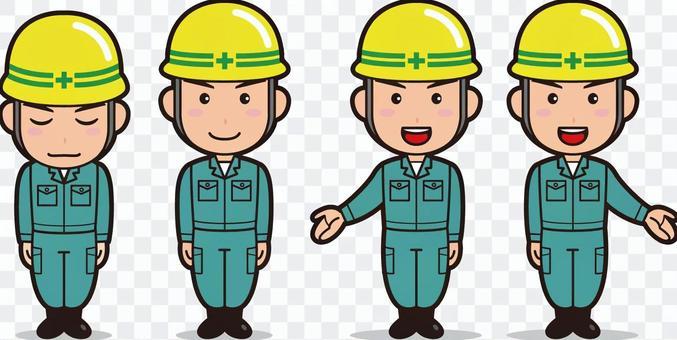 作業員1(男性・作業服)
