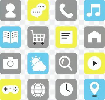智能手機簡單可愛的應用程序集
