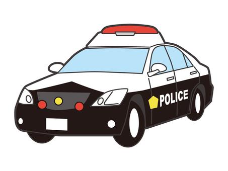 Police car emergency vehicle