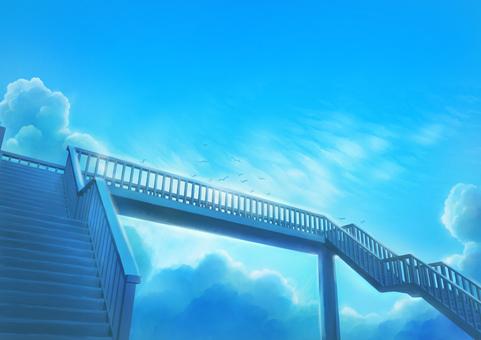 人行天橋背景圖