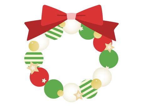 聖誕花環平面設計