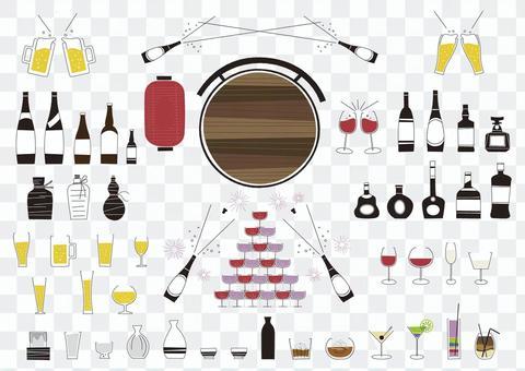 啤酒,葡萄酒和雞尾酒等酒精