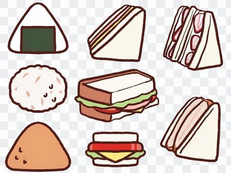 湯圓和三明治