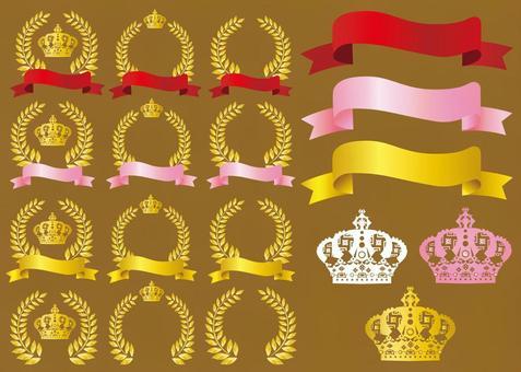 Free illustration laurel crown luxury frame frame material