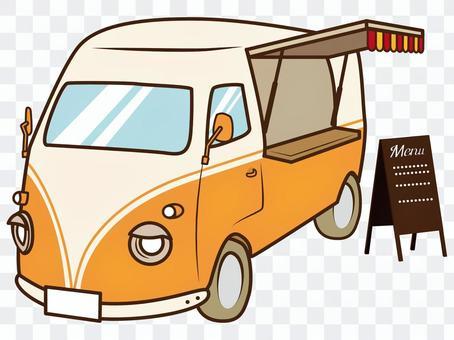橙色廚房汽車例證