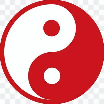 Yin Yang Taijitu Icon Illustration Material