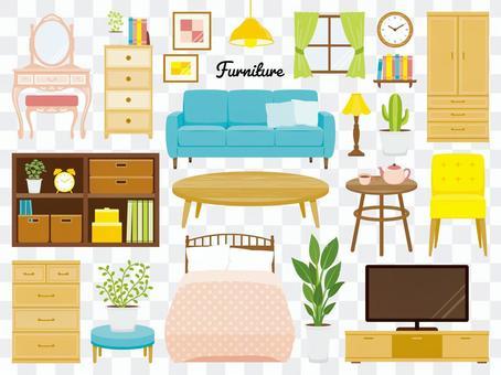 家具イラスト素材セット