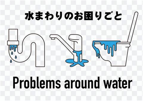 水周圍故障/麻煩