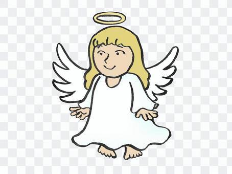 一個女孩形狀的天使
