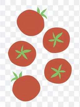 在小番茄上