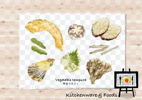 蔬菜天婦羅手寫