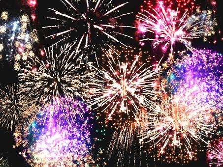 Fireworks full of sky