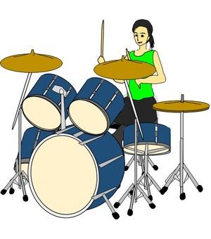 Before female drummer