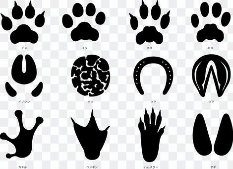 動物足跡剪影集