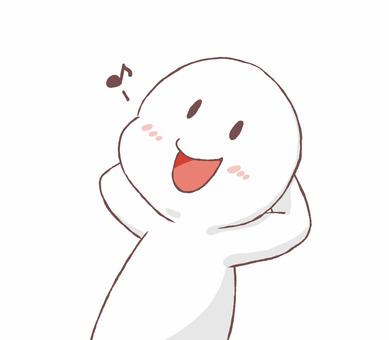 一個快樂的人的插圖