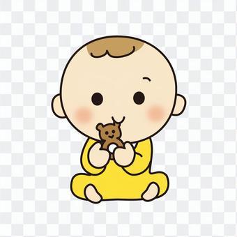 嬰兒與搖鈴