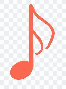 Sixteenth note music symbol icon