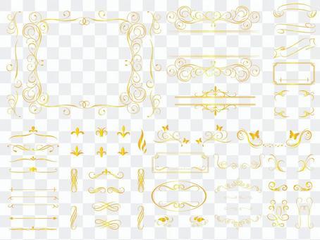 裝飾執政(相框)金簡單