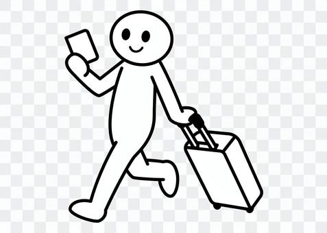【お題】棒人間-海外旅行に行く