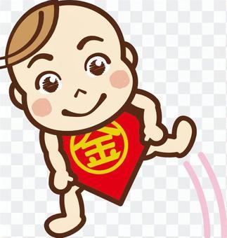 嬰兒四爪蓬鬆1.金太郎
