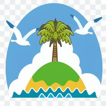 Palm trees and islands