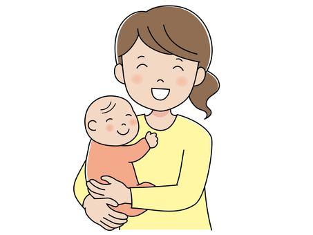 媽媽抱著寶寶