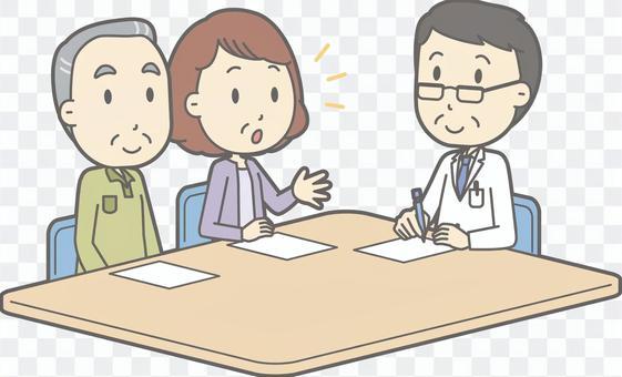諮詢醫生 - 老男人和男醫生 - 全身