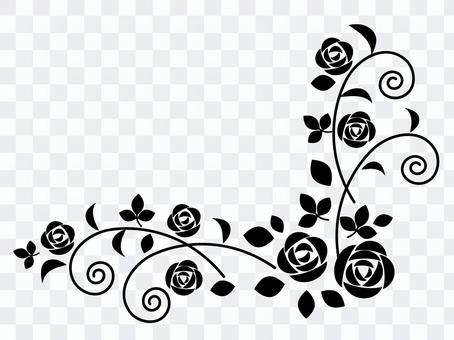 One point of rose (black)