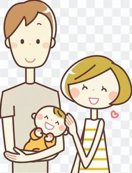 簡單的人_ 3人家庭