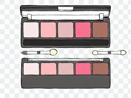 Eyeshadow palette 5 colors 02