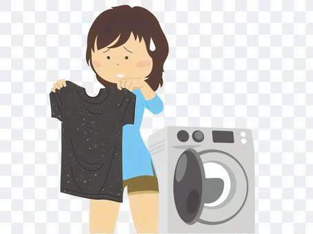 一起洗紙巾和黑色襯衫