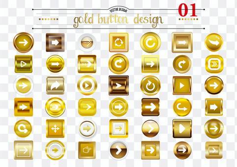 ゴールドボタンデザイン01