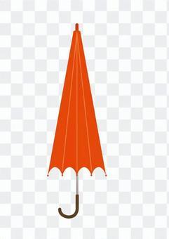 Orange's closed umbrella