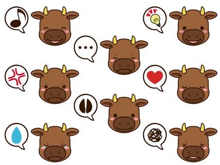 牛(棕色)臉圖標