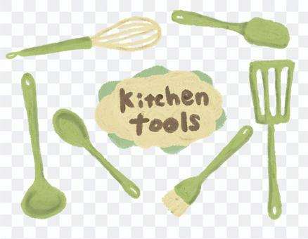 廚房工具手寫插圖集