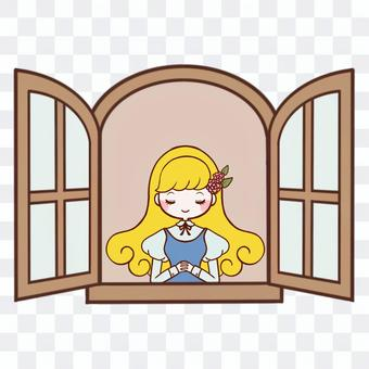 靠窗的女孩