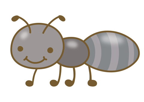 Cute ant illustration