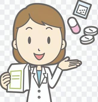 營養學家女人a-藥胸圍