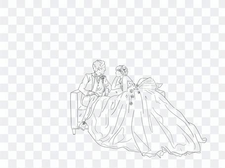 婚禮西裝圖