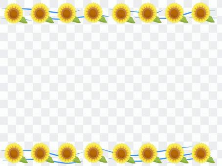 向日葵框架例證