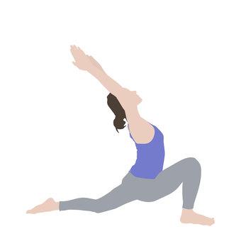 瑜伽新月式